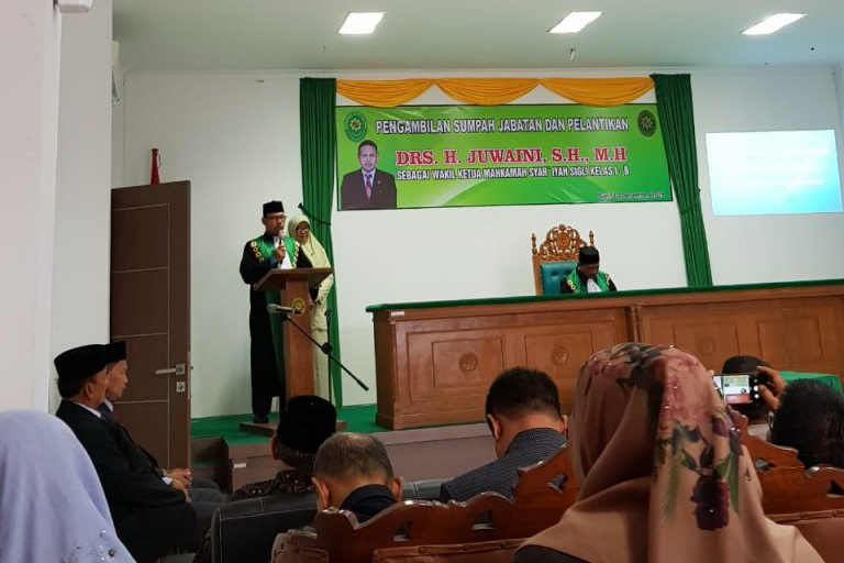 Ketua Mahkamah Syariyah Jantho Menghadiri Acara Pengambilan Sumpah dan Pelantikan Ketua MS-Sigli